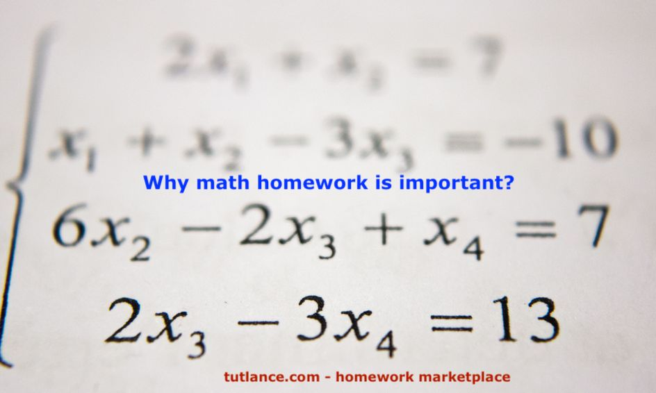 why math homework is important?