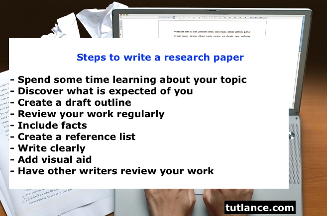 how to write a research paper step by step guide