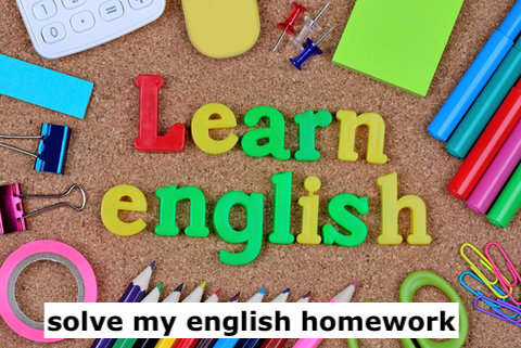 solve my english homework