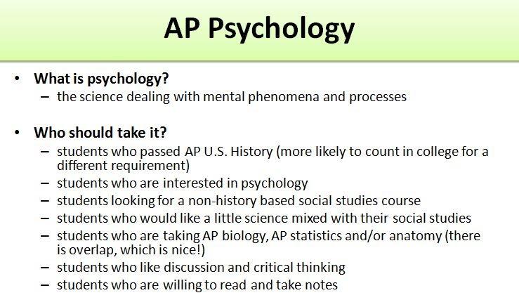 AP psychology homework help